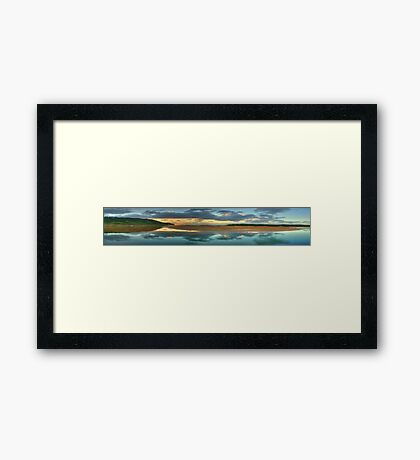 Morning !  (35 Exposure HDR Panorama) - Narrabeen Lakes Entrance, Sydney - The HDR Experience Framed Print