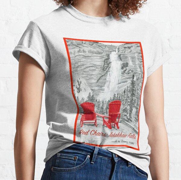 Red Chairs: Takakkaw Falls Classic T-Shirt