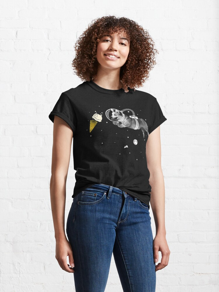 Alternate view of Corgi Astronaut In Space  Icecream Corginaut  Classic T-Shirt