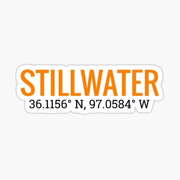 Stillwater, Oklahoma with Coordinates Sticker