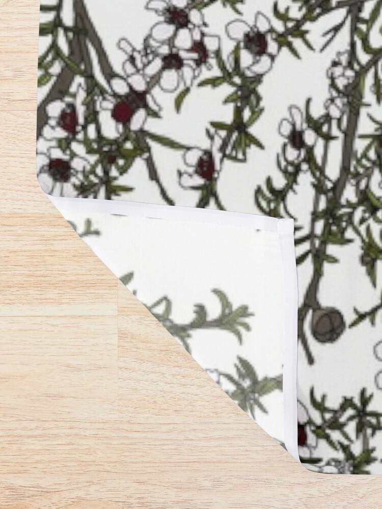 Alternate view of Mānuka bush - white flowers Shower Curtain
