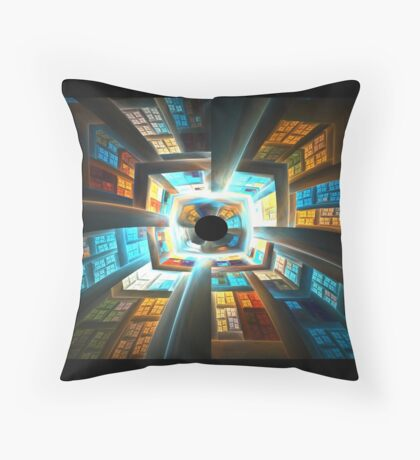 Inside the Spaceship Throw Pillow
