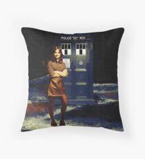 Clara Oswald Throw Pillow
