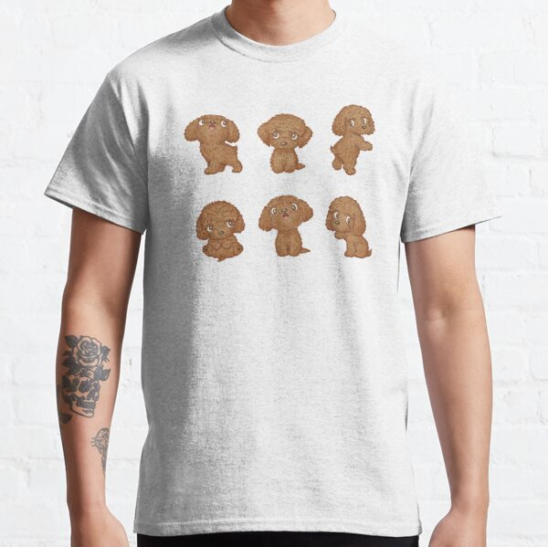 Toy-Poodle of various poses Classic T-Shirt