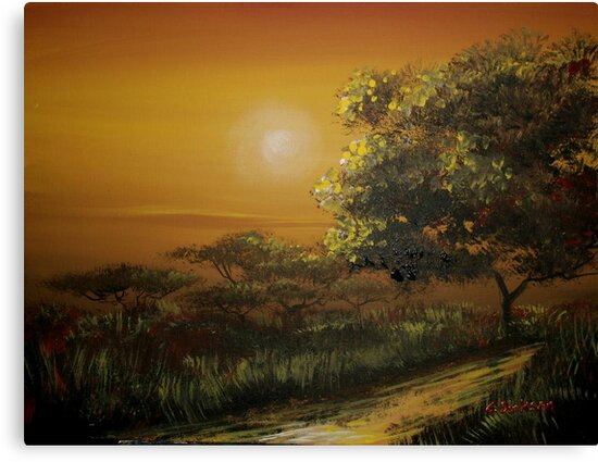 Sunset in the Bushveld by Cherie Roe Dirksen