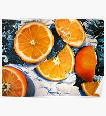 Still Life with Blue and White Chintz.. Poster