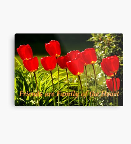 family of the heart tulips Metal Print