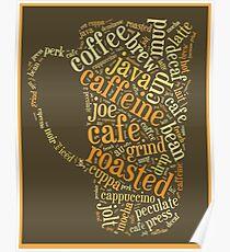 Coffee Lovers Word Cloud Poster