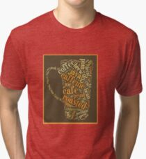 Coffee Lovers Word Cloud Tri-blend T-Shirt