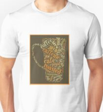 Coffee Lovers Word Cloud Unisex T-Shirt