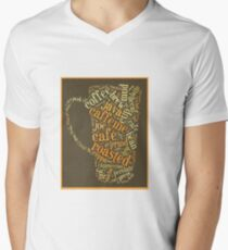 Coffee Lovers Word Cloud Mens V-Neck T-Shirt