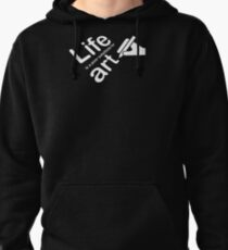 Art v Life - White Graphic Pullover Hoodie