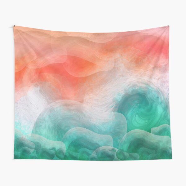 """""""Coral sand beach and tropical turquoise sea"""" Tapestry"""