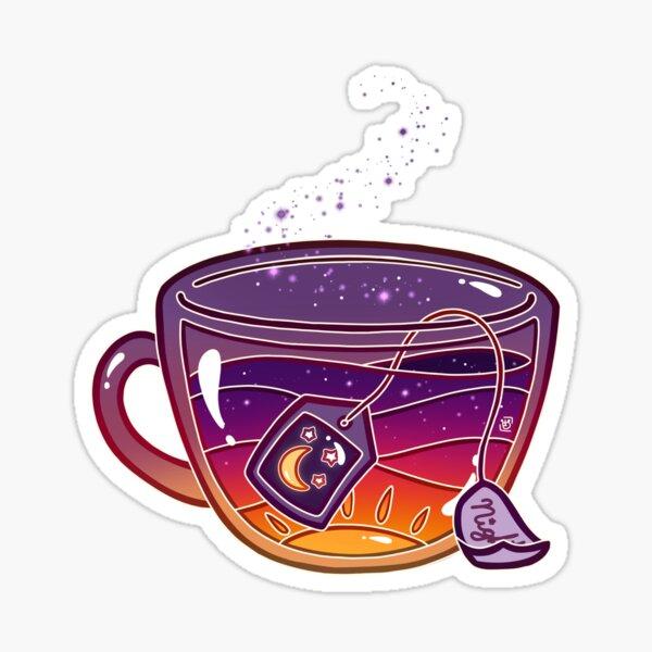 Sunset Tea Sticker