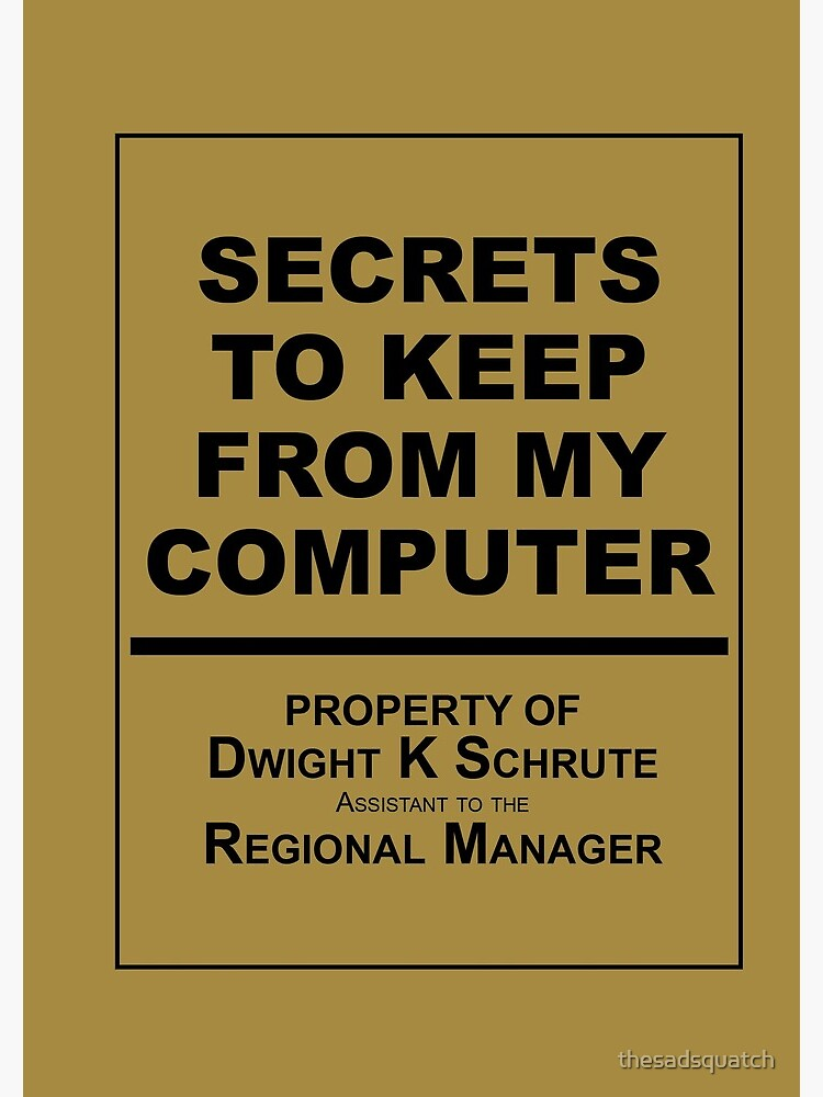 The Diary of Dwight K Schrute - The Office by thesadsquatch