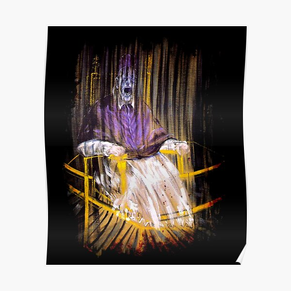 Francis Bacon Screaming Pope painting art lover gift t shirt Poster