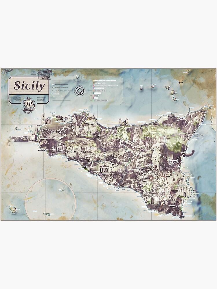Sicily - Jean Passepartout Maps by gotoandplay