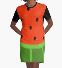 Watermelon Sliced Graphic T-Shirt Dress
