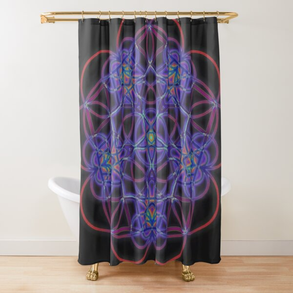 #Pattern, #design, #tracery, #weave  Shower Curtain