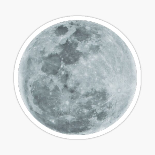 moon sticker Sticker