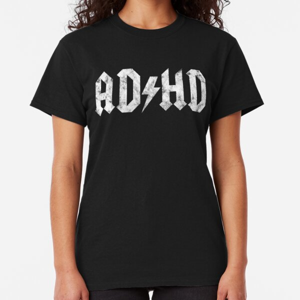 AC/DC Style ADHD - Distressed White Edition Classic T-Shirt