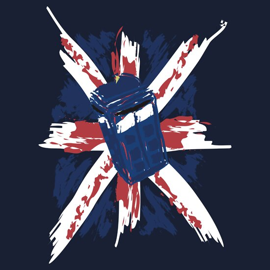 TShirtGifter presents: Police Box On Union Jack