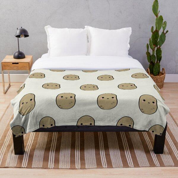 Cute Potatoes Throw Blanket