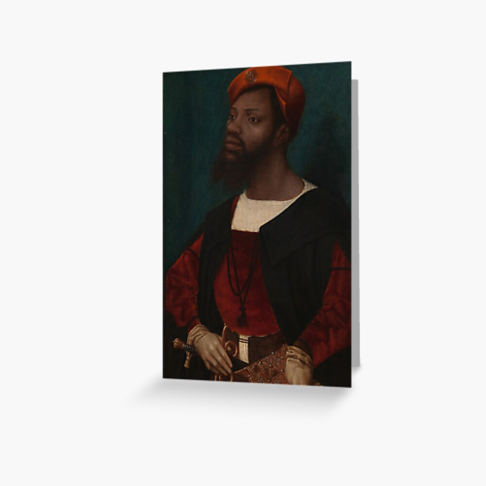Portrait of an African Man Greeting Card