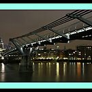 Millenium Bridge & St Pauls Cathedral London by AndyV