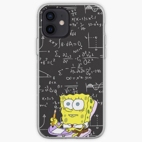 Spongebob having problems with math iPhone Soft Case