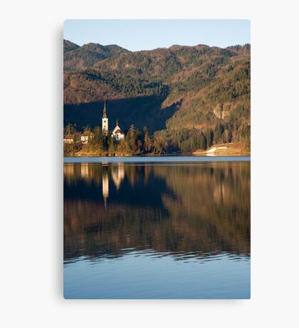 View across Lake Bled Canvas Print