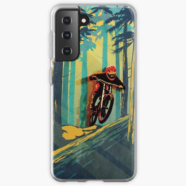 Forest log mountain bike ghost jumper Samsung Galaxy Soft Case