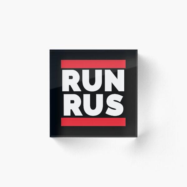 RUN RUS as Run Russia Acrylic Block
