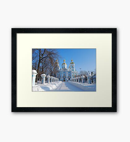 St. Nicholas Cathedral, St Petersburg, Russia Framed Print