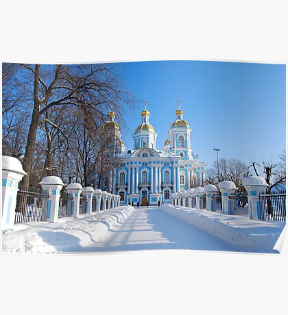 St. Nicholas Cathedral, St Petersburg, Russia Poster