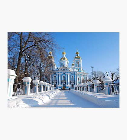 St. Nicholas Cathedral, St Petersburg, Russia Photographic Print