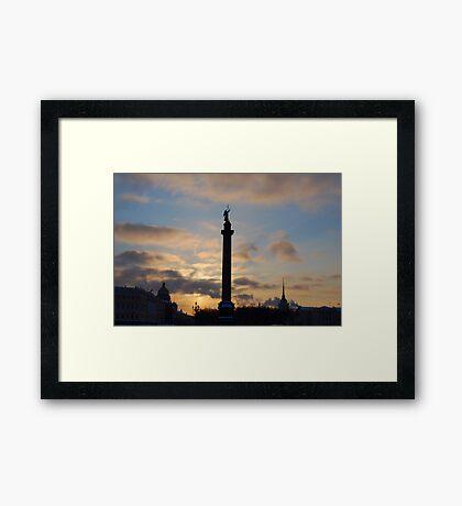 Alexander Column, St Petersburg, Russia Framed Print