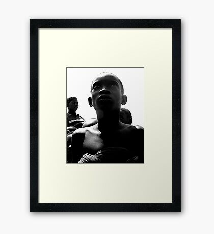 A Haunting Stare Framed Print