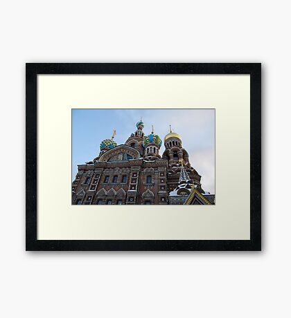 The Cathedral of Our Saviour on Spilled Blood, St Petersburg, Russia Framed Print