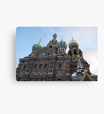 The Cathedral of Our Saviour on Spilled Blood, St Petersburg, Russia Canvas Print