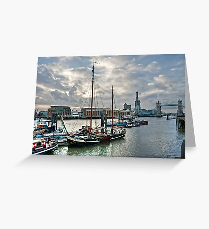 Thames River View: London, UK. Greeting Card