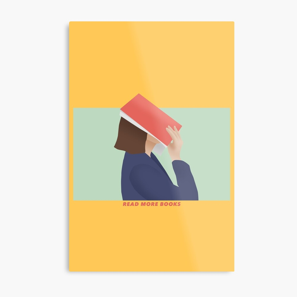 READ MORE BOOKS - GIRL READING Metal Print