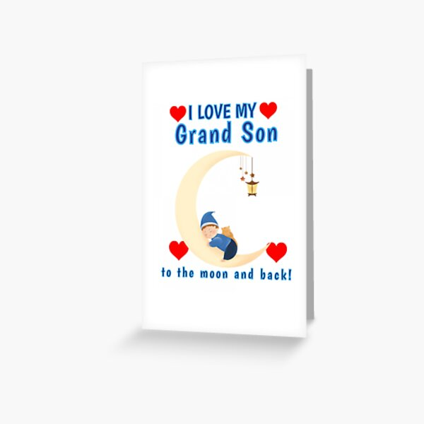 First Grandson Greeting Cards Redbubble