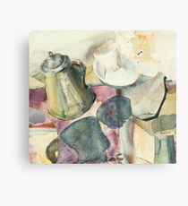Coffee and morning and beans and beer Canvas Print