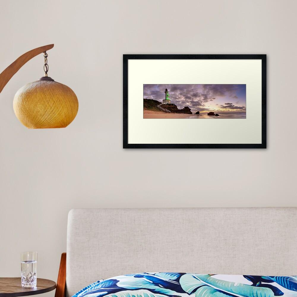 Point Lonsdale Lighthouse Pre-Dawn, Australia Framed Art Print