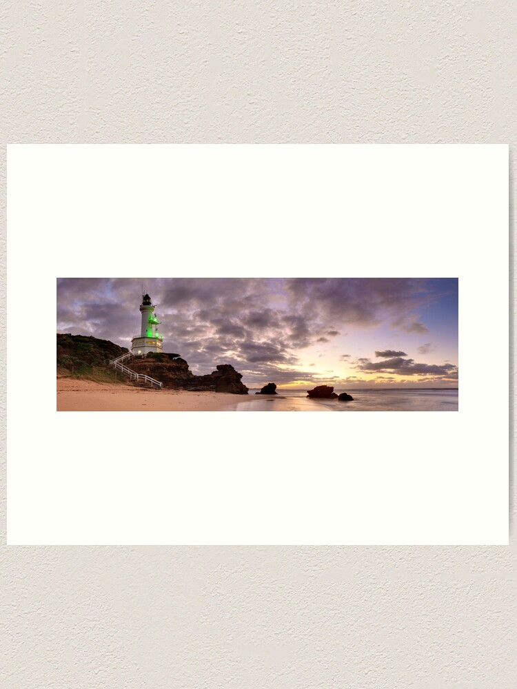 Alternate view of Point Lonsdale Lighthouse Pre-Dawn, Australia Art Print