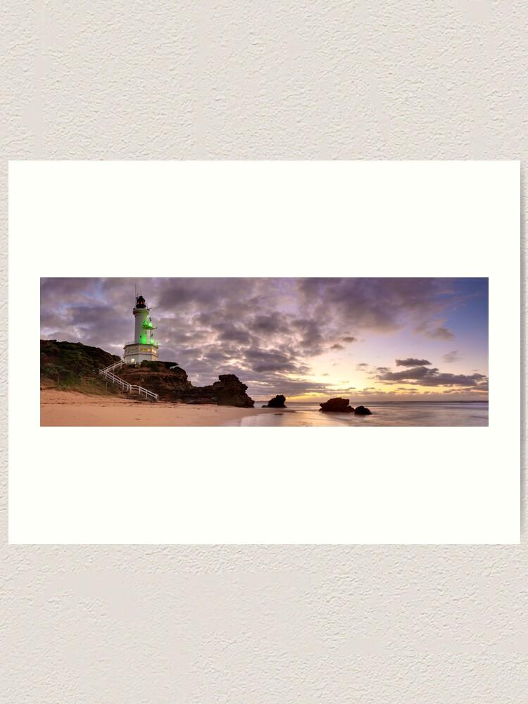 Alternate view of Point Lonsdale Lighthouse Pre-Dawn, Australia Art Print