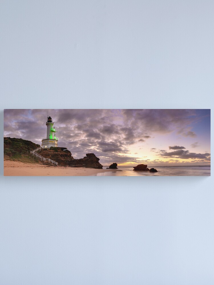 Alternate view of Point Lonsdale Lighthouse Pre-Dawn, Australia Canvas Print