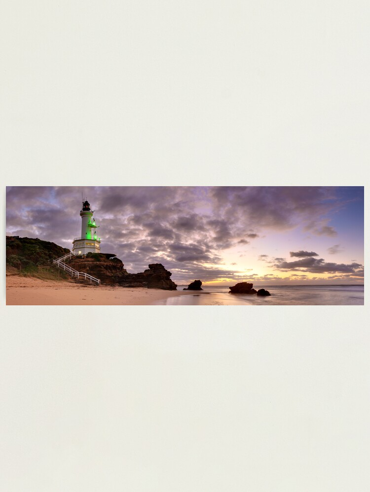 Alternate view of Point Lonsdale Lighthouse Pre-Dawn, Australia Photographic Print