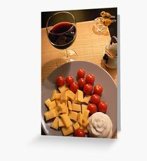 tomatto cheese n decorative roseB Greeting Card